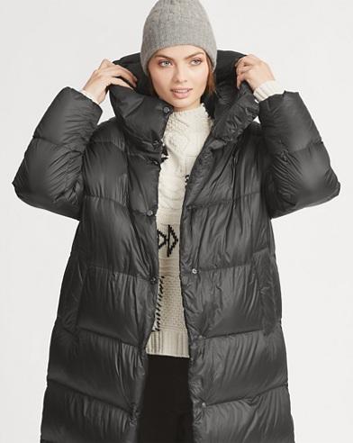 Long Hooded Down Coat