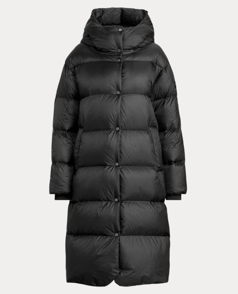 Long Hooded Down Coat
