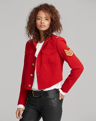 Twill Cropped Military Jacket