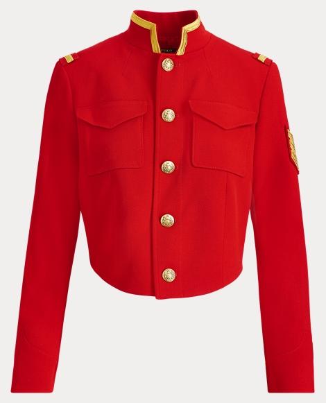 Kurze Military-Jacke aus Twill