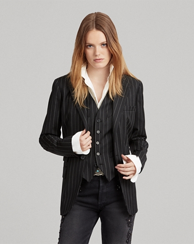 Pinstripe One On Blazer