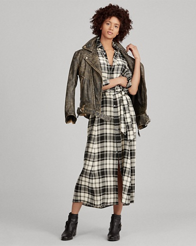 Tartan Twill Shirtdress