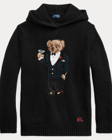 Polo Bear Wool-Blend Hoodie
