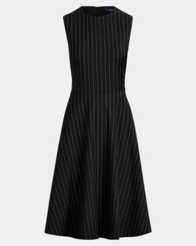 Pinstripe Wool Dress
