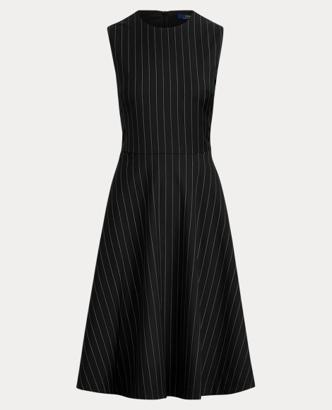 Pinstripe Wool Dress