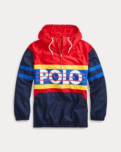 Color-Blocked Poplin Jacket