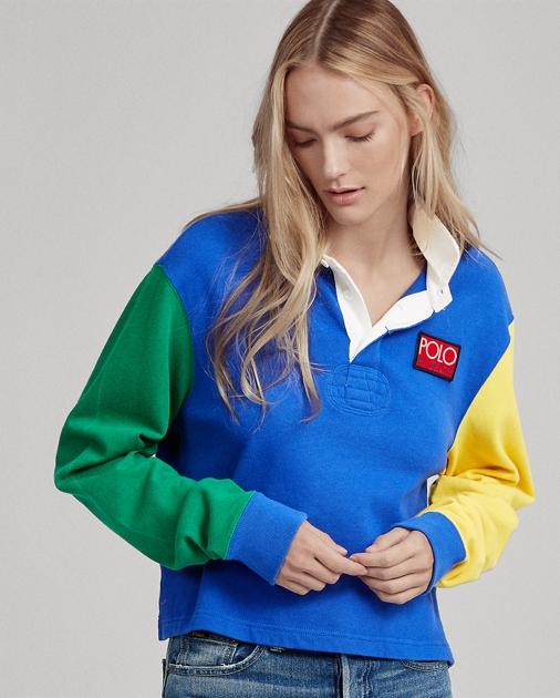 9cbe4f95cf32 Polo Ralph Lauren Cropped Rugby Shirt 1