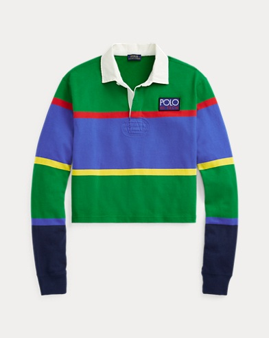 Cropped Cotton Rugby Shirt