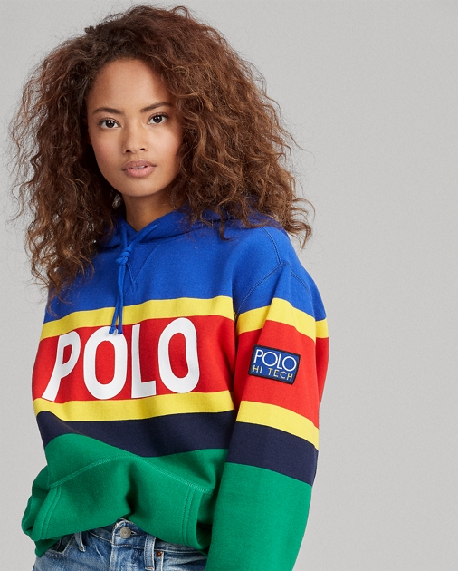 Save 30% on Striped Fleece Hoodie Pullover from Polo Ralph Lauren