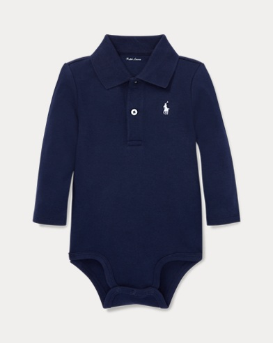 Cotton Interlock Polo Bodysuit