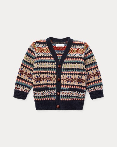 Strickjacke mit Fair-Isle-Muster