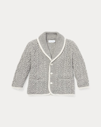 Aran Merino-Cotton Cardigan