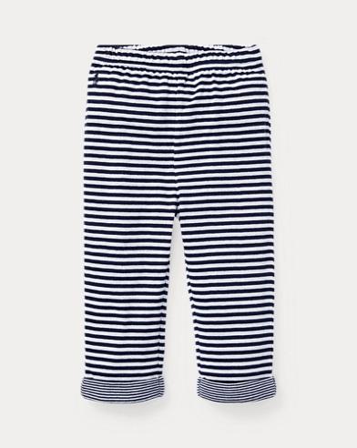Pantaloni con elastico in jacquard