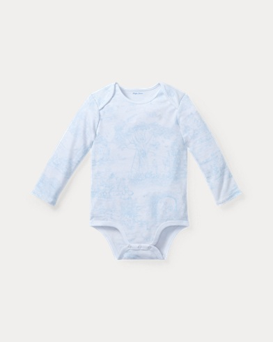 Toile-Print Cotton Bodysuit