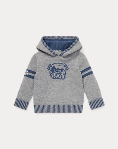 Felpa in lana merino e cotone