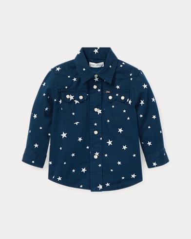 Star-Print Western Shirt