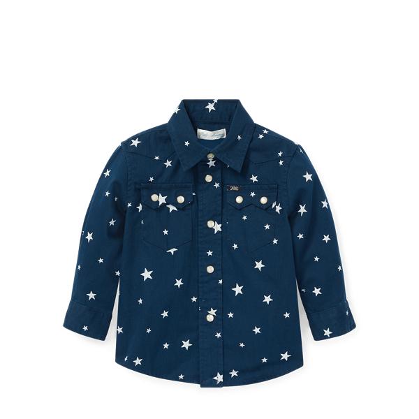 Ralph Lauren Star-Print Western Shirt Star 6M