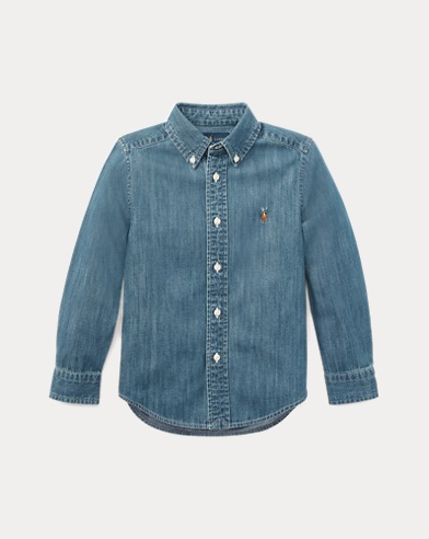 Cotton Chambray Sport Shirt