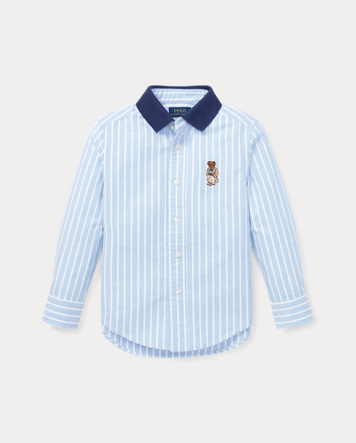 b1cd406e produt-image-0.0. produt-image-1.0. KIDS BOYS 1½-6 YEARS New Arrivals Polo  Bear Cotton Oxford Shirt