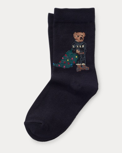 Holiday Bear Crew Socks