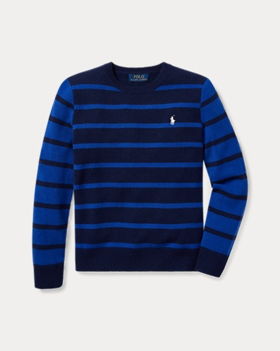 Striped Wool Crewneck Sweater