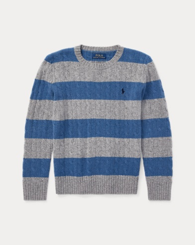 Cable-Knit Wool-Blend Sweater