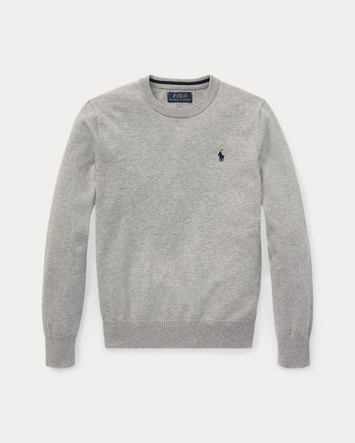 5e8147256814 BOYS 6-14 YEARS Cotton Crewneck Sweater 1