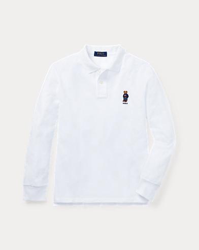 Polo Bear Cotton Mesh Polo