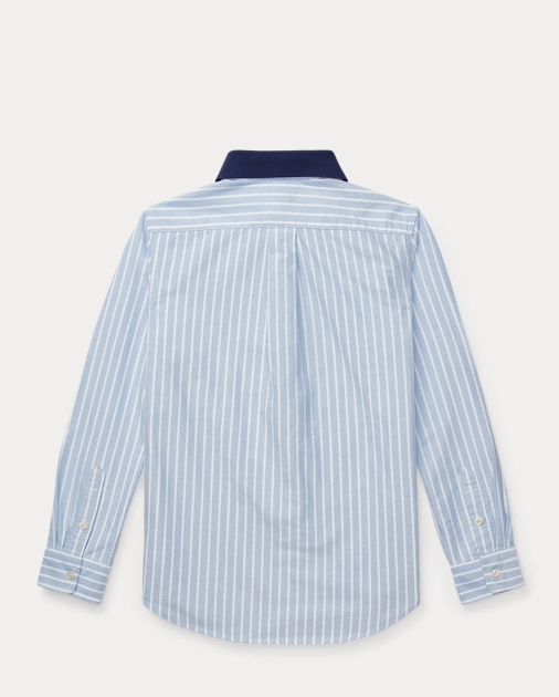 3e2db8eb BOYS 6-14 YEARS Polo Bear Cotton Oxford Shirt 2