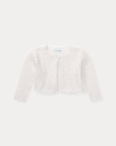 Pointelle Wool-Cotton Sweater