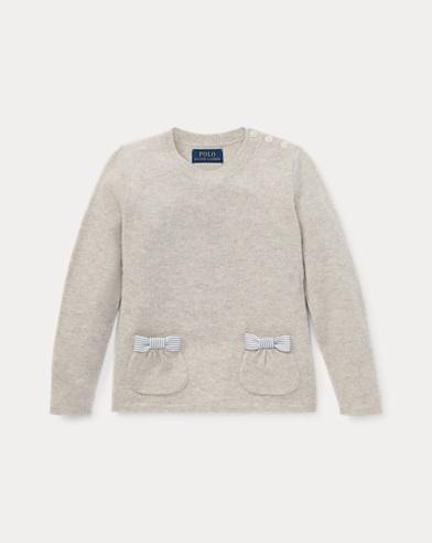 Wollpullover mit Schleifentaschen