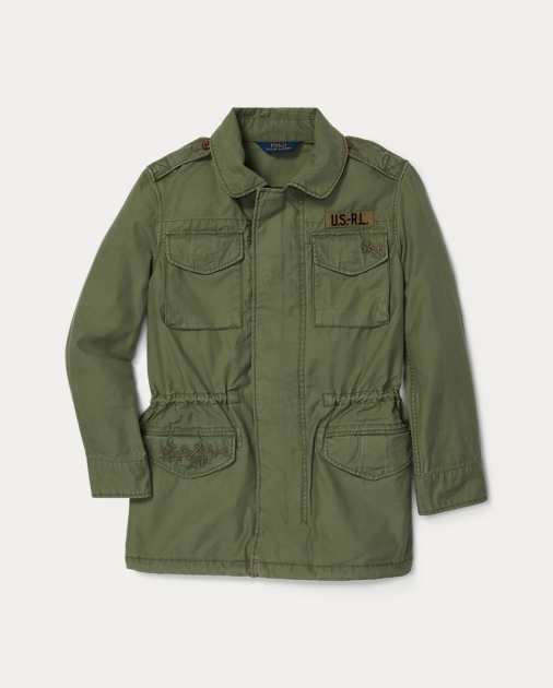 99a42cc5f GIRLS 1.5-6.5 YEARS Embroidered Military Jacket 1