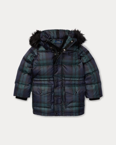 Tartan Plaid Down Coat