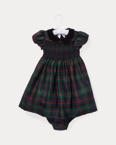 Smocked Plaid Dress & Bloomer