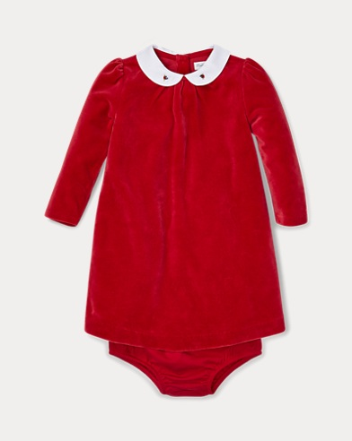 Velour Dress & Bloomer