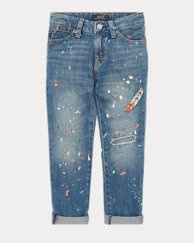 Embroidered Astor Slim Jean