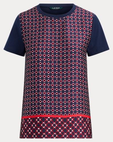 T-Shirt mit geometrischem Druck