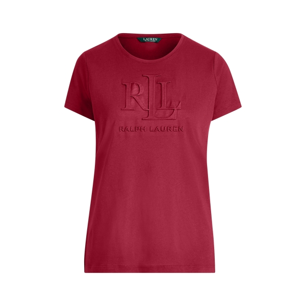 Ralph Lauren Embossed-Logo T-Shirt Bordeaux S