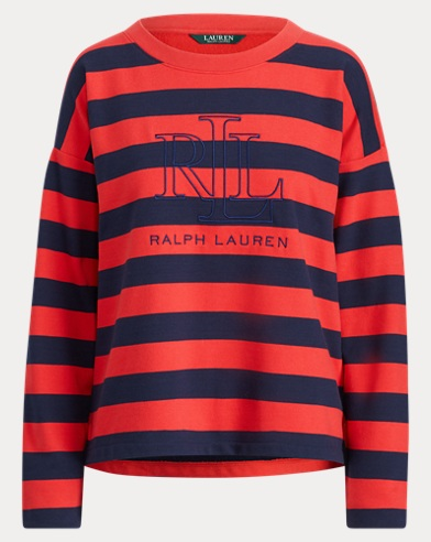Logo Striped Terry Sweatshirt