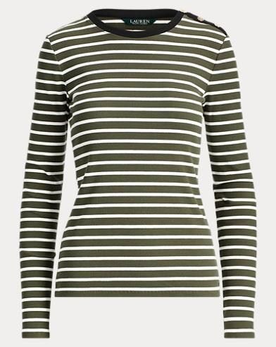 Striped Stretch Cotton Top