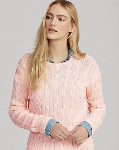 Pink Pony Cable Cotton Sweater