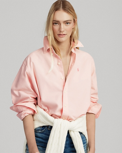 Pink Pony Cotton Button-Down