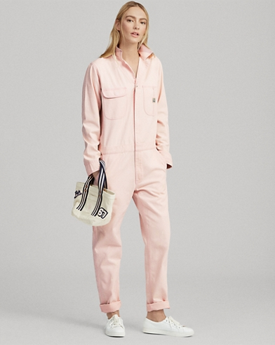 Pink Pony Herringbone Jumpsuit