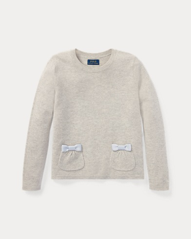 Bow-Trim Wool Sweater