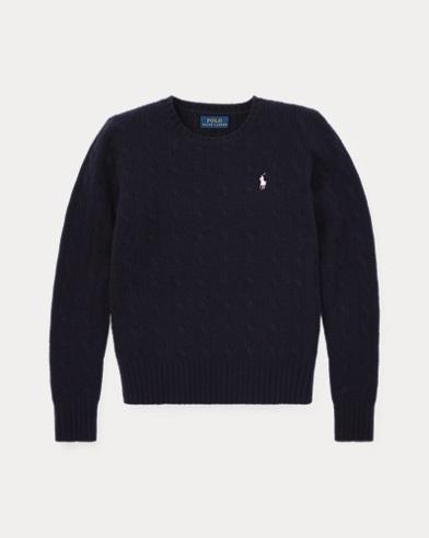 Suéter de punto trenzado con rayas
