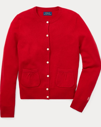Bow-Detail Wool Cardigan