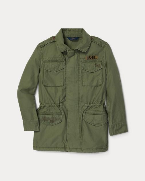 6736da0c48 GIRLS 7-14 YEARS Embroidered Military Jacket 1