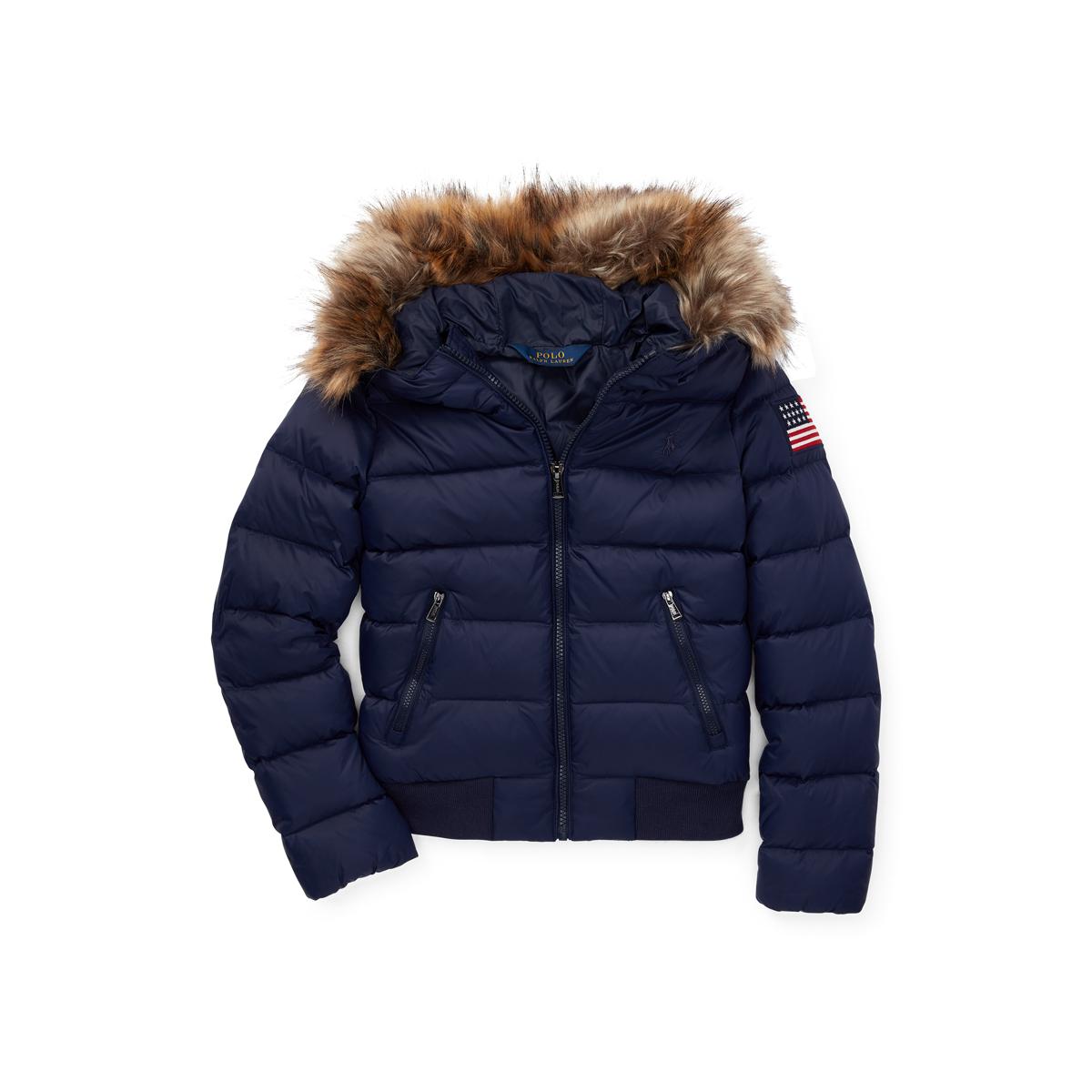 614ac762fa17 Faux-Fur-Trim Down Coat