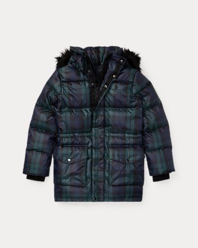 Tartan Down Hooded Jacket