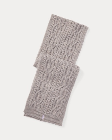 Aran-Knit Scarf